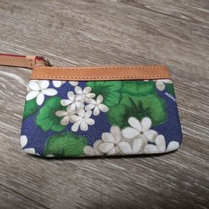 Dooney & Bourke Leather Floral Coin Purse